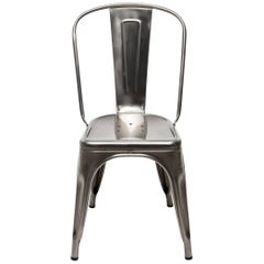 A-Chair in Glossy Stainless Steel by Xavier Pauchard & Tolix