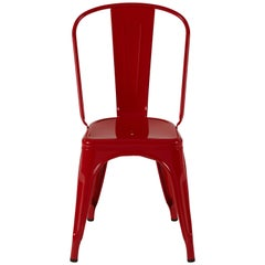 A-Chair in Glossy True Red by Xavier Pauchard & Tolix