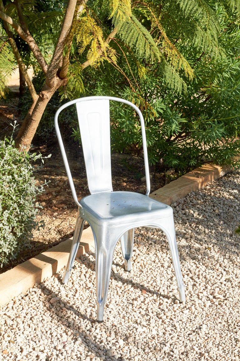 French A-Chair in Khaki by Xavier Pauchard & Tolix For Sale