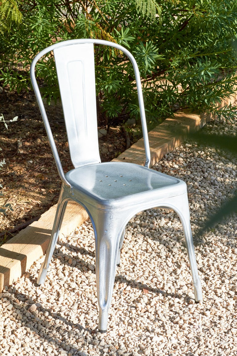 Painted A-Chair in Khaki by Xavier Pauchard & Tolix For Sale