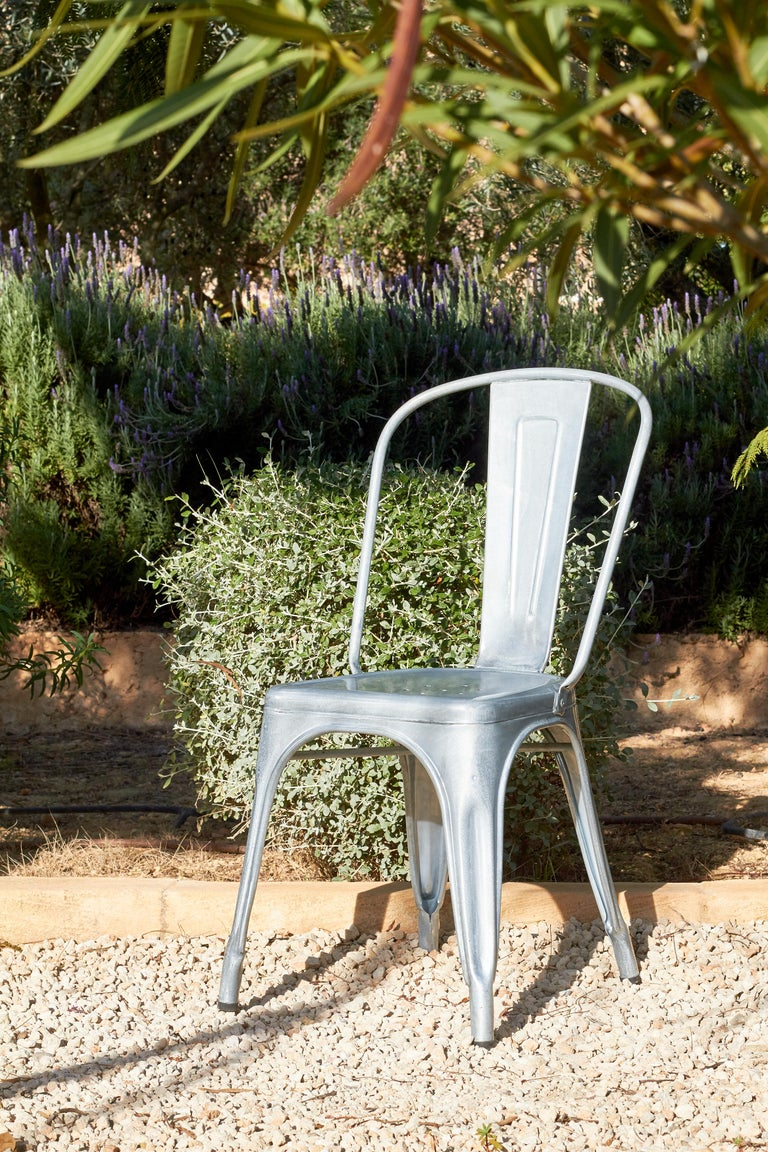 Painted A-Chair in Powder Pink by Xavier Pauchard & Tolix For Sale