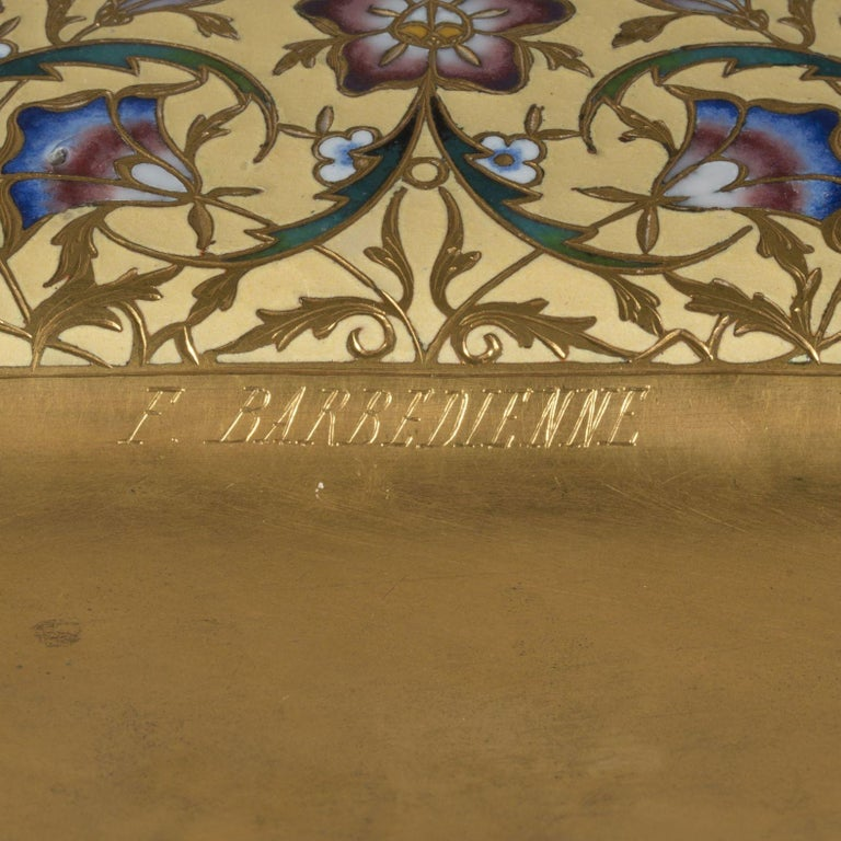 Champlevé Enamel Jardinière by Ferdinand Barbedienne, circa 1870 In Good Condition For Sale In London, GB