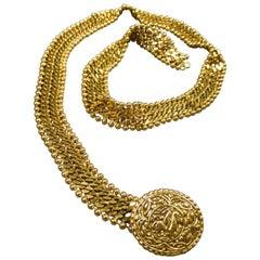 A Chanel Evening Belt in Golden Metal Circa 1970/1980