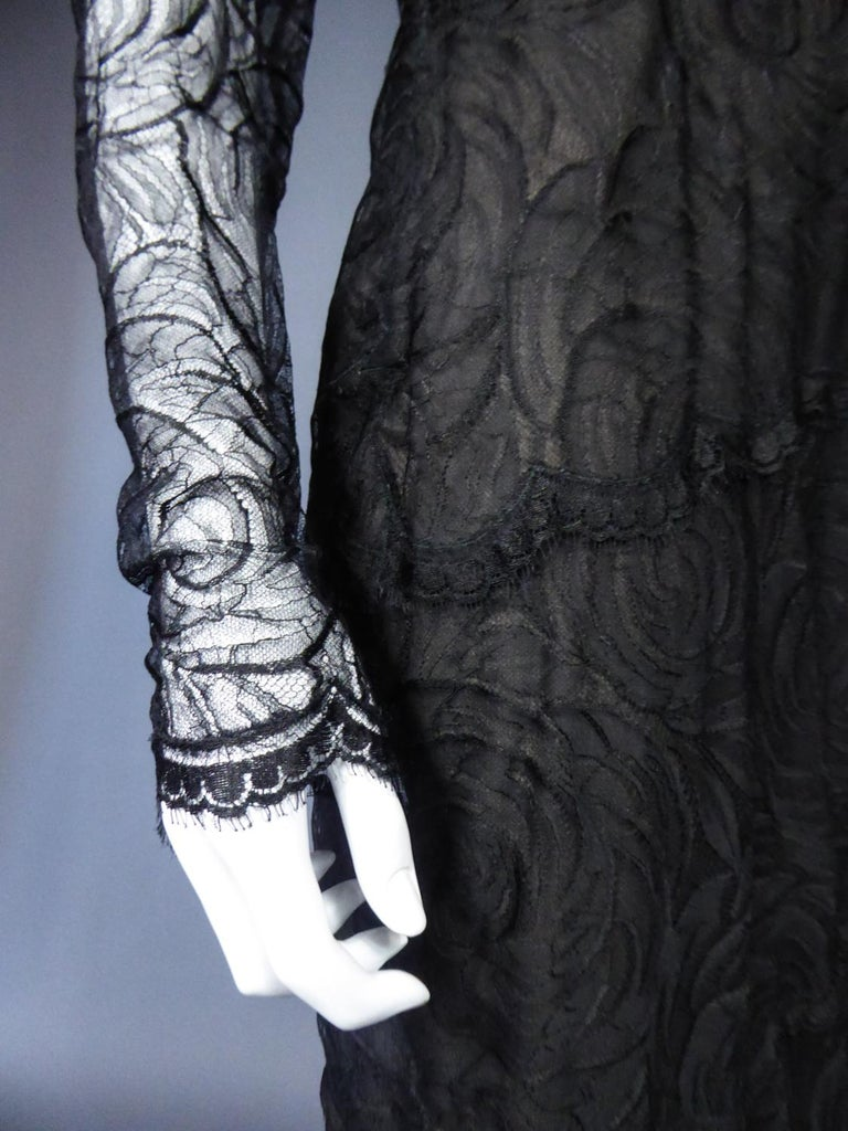A Chanel Haute Couture Evening Dress by Karl Lagerfeld in Calais Lace Circa 1997 For Sale 7