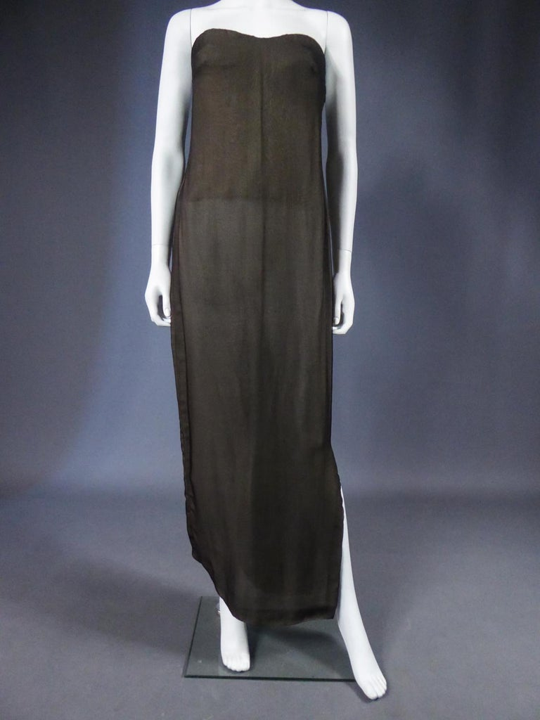 Women's A Chanel Haute Couture Evening Dress by Karl Lagerfeld in Calais Lace Circa 1997 For Sale