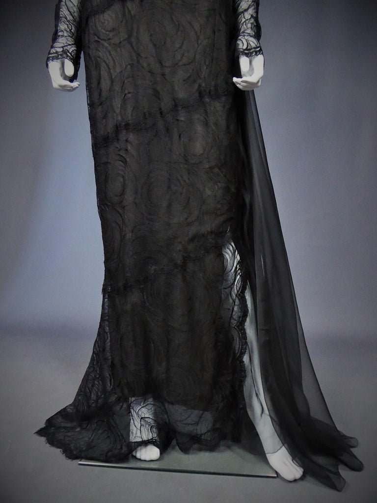 A Chanel Haute Couture Evening Dress by Karl Lagerfeld in Calais Lace Circa 1997 For Sale 1