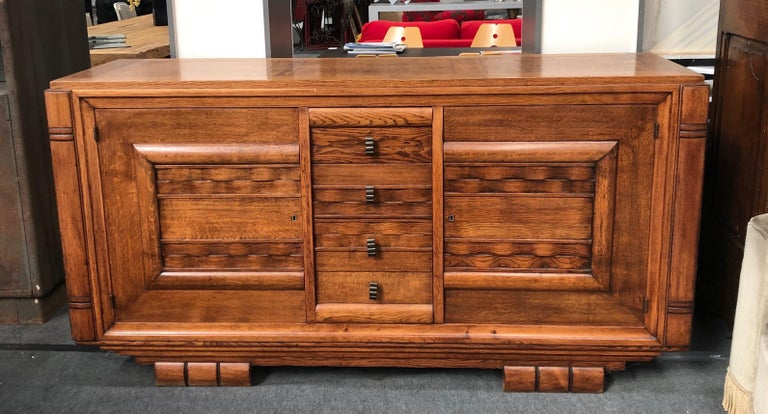 French Charles Dudouyt Sideboard in Oak
