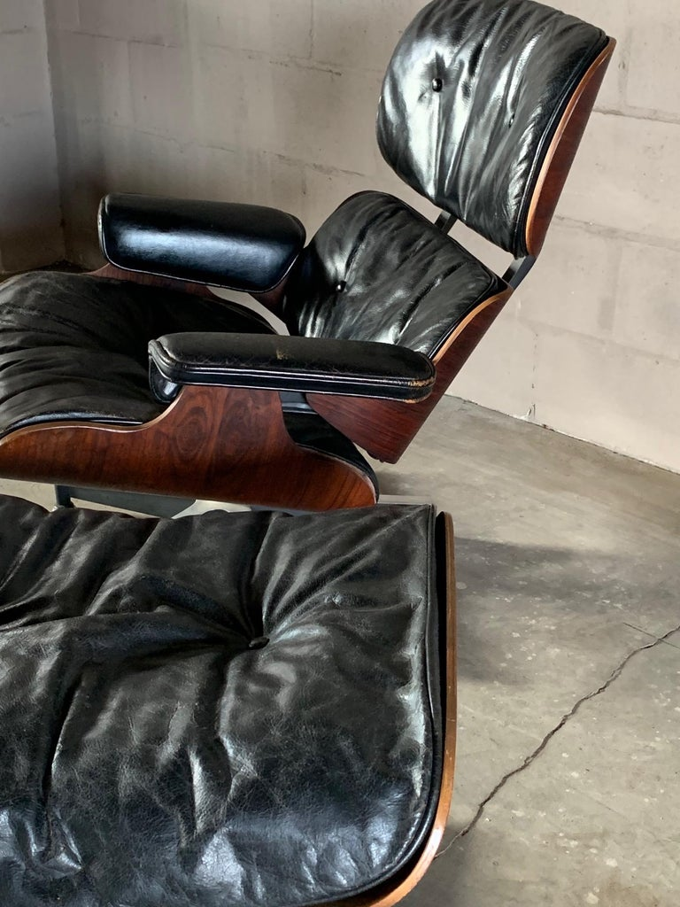 Charles Eames Herman Miller Lounge Chair and Ottoman 1956 For Sale 4