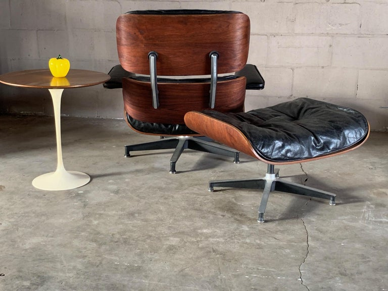 Charles Eames Herman Miller Lounge Chair and Ottoman 1956 For Sale 6