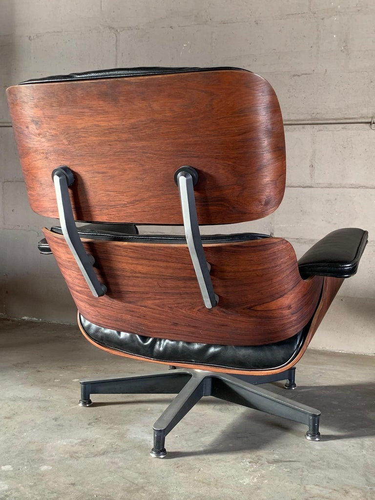Leather Charles Eames Herman Miller Lounge Chair and Ottoman 1956 For Sale