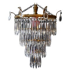 Charming Art Deco 4-Tier Waterfall Pendant Chandelier