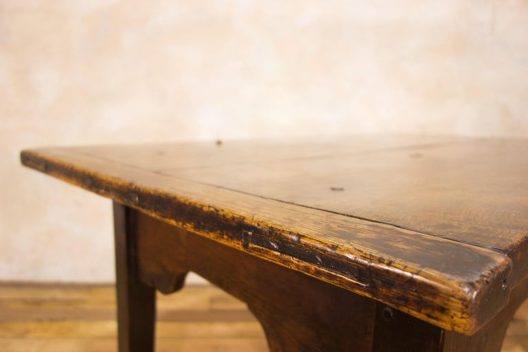 A Charming Mid 18th Century Joined Oak Country Farmhouse Table For Sale 6