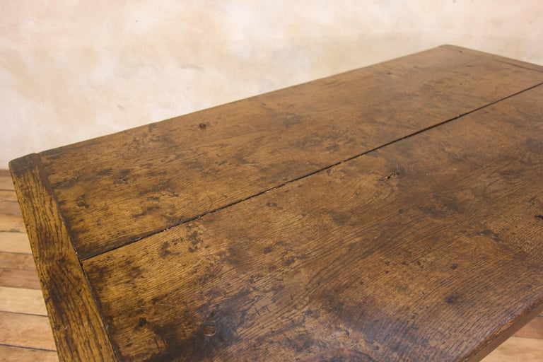 A Charming Mid 18th Century Joined Oak Country Farmhouse Table For Sale 9