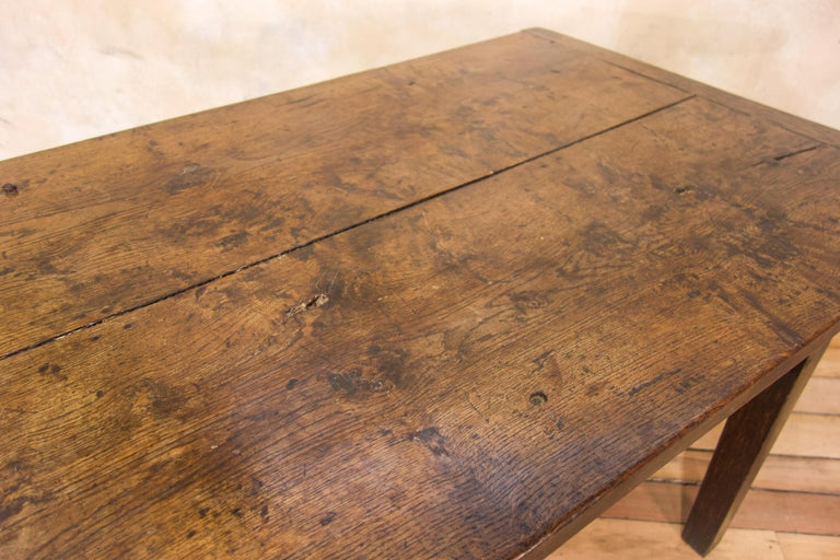 A Charming Mid 18th Century Joined Oak Country Farmhouse Table For Sale 10