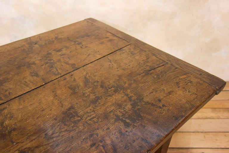 A Charming Mid 18th Century Joined Oak Country Farmhouse Table For Sale 11