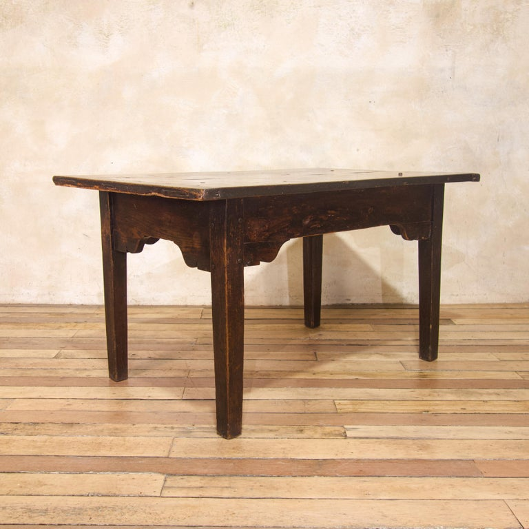 European A Charming Mid 18th Century Joined Oak Country Farmhouse Table For Sale