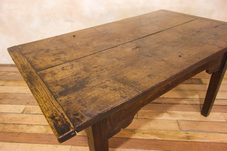 A Charming Mid 18th Century Joined Oak Country Farmhouse Table For Sale 1