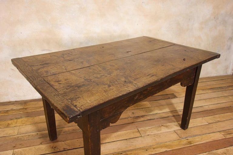 A Charming Mid 18th Century Joined Oak Country Farmhouse Table For Sale 4