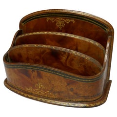 Charming Tooled Leather Stationary or Letter Box