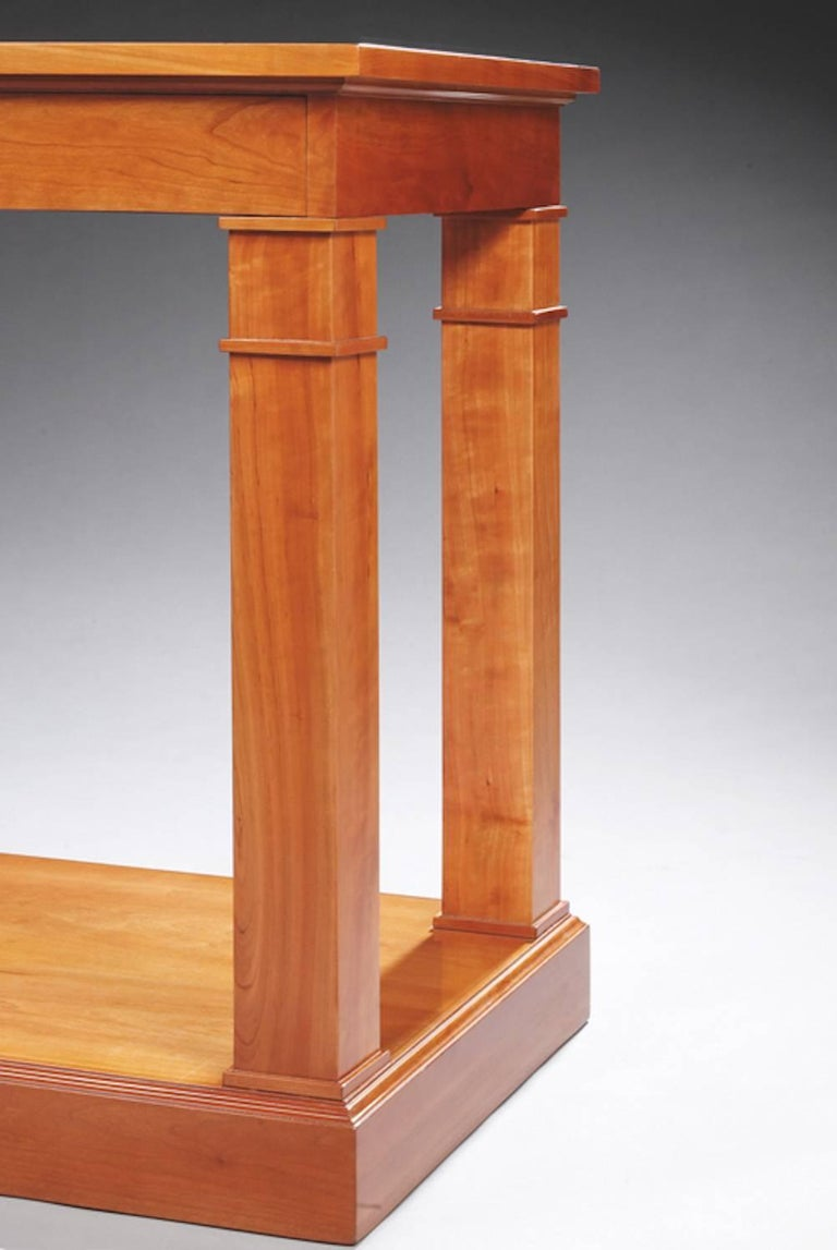 Important cherrywood console attributed to Jean Charles Moreux.