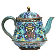 Chinese Cloisonné Enamel Teapot and Cover, 20th Century