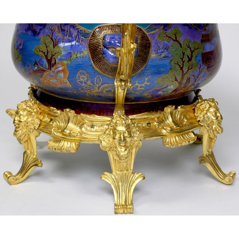 Chinese Export Famille Verte Porcelain & French Ormolu Chinoiserie Centerpiece For Sale 9