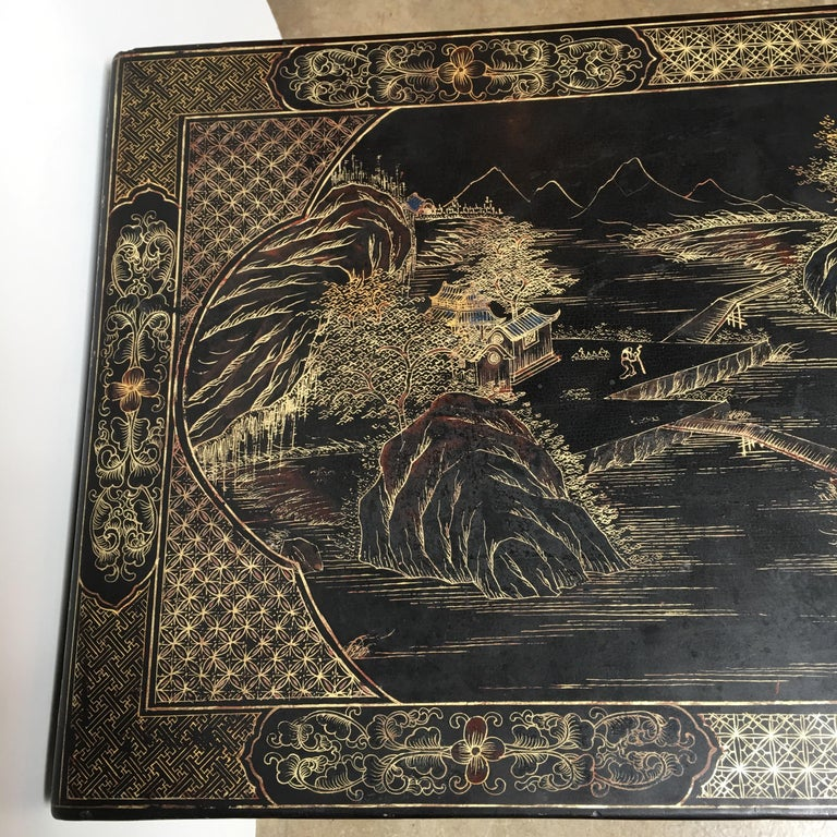 Chinese Lacquered Low Table For Sale 6