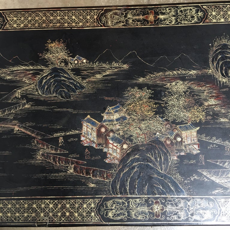 Chinese Lacquered Low Table For Sale 7