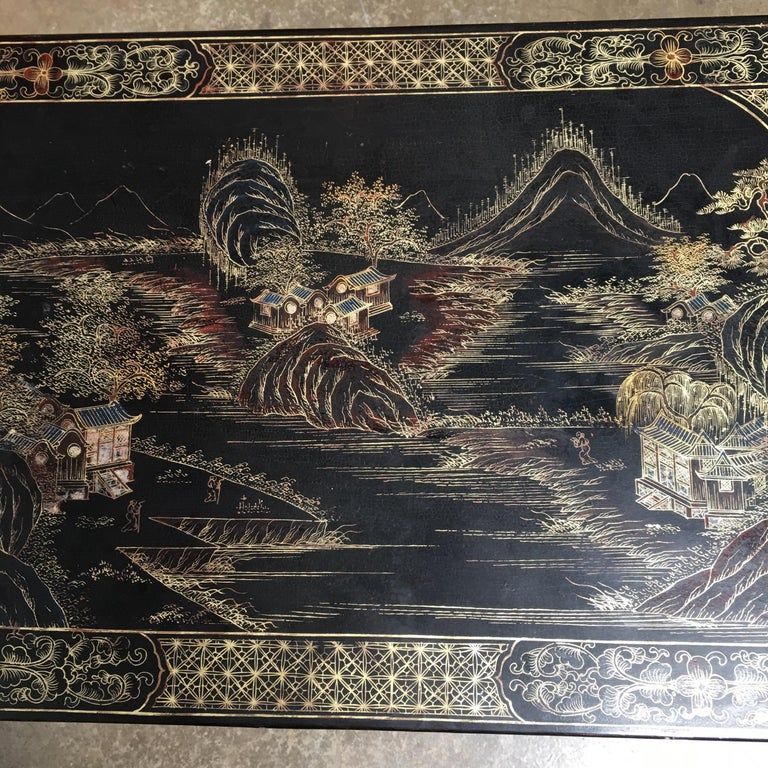 Chinese Lacquered Low Table For Sale 8