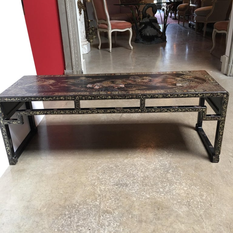 Chinese Lacquered Low Table For Sale 1