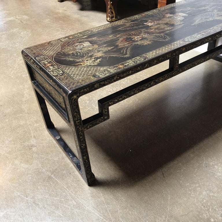 20th Century Chinese Lacquered Low Table For Sale