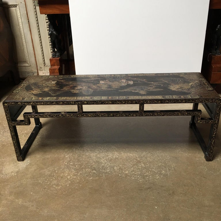 Chinese Lacquered Low Table For Sale 2
