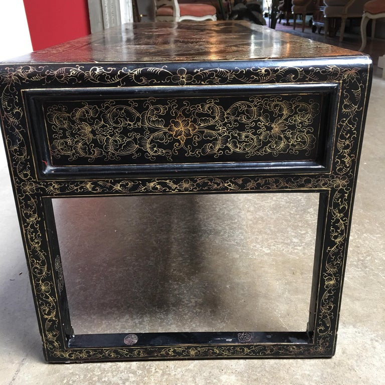 Chinese Lacquered Low Table For Sale 3