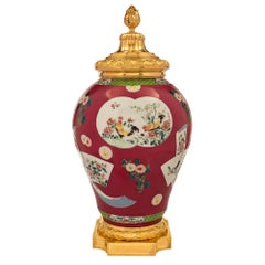 Chinese Porcelain and French Louis XVI Style Ormolu Mounted Lidded Urn