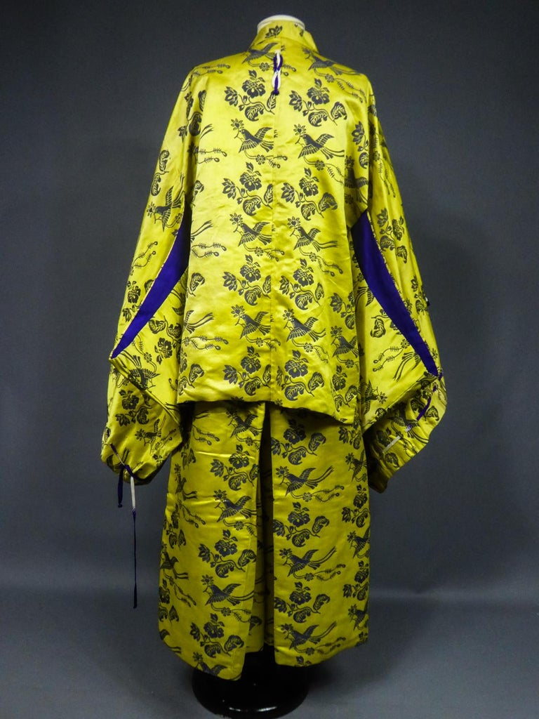 A Chinese Silk Damask Dramatic SetCirca 1960 For Sale 7