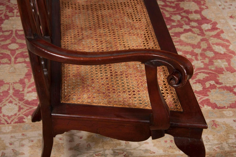Chippendale Style Mahogany Carved Back Settee For Sale 1