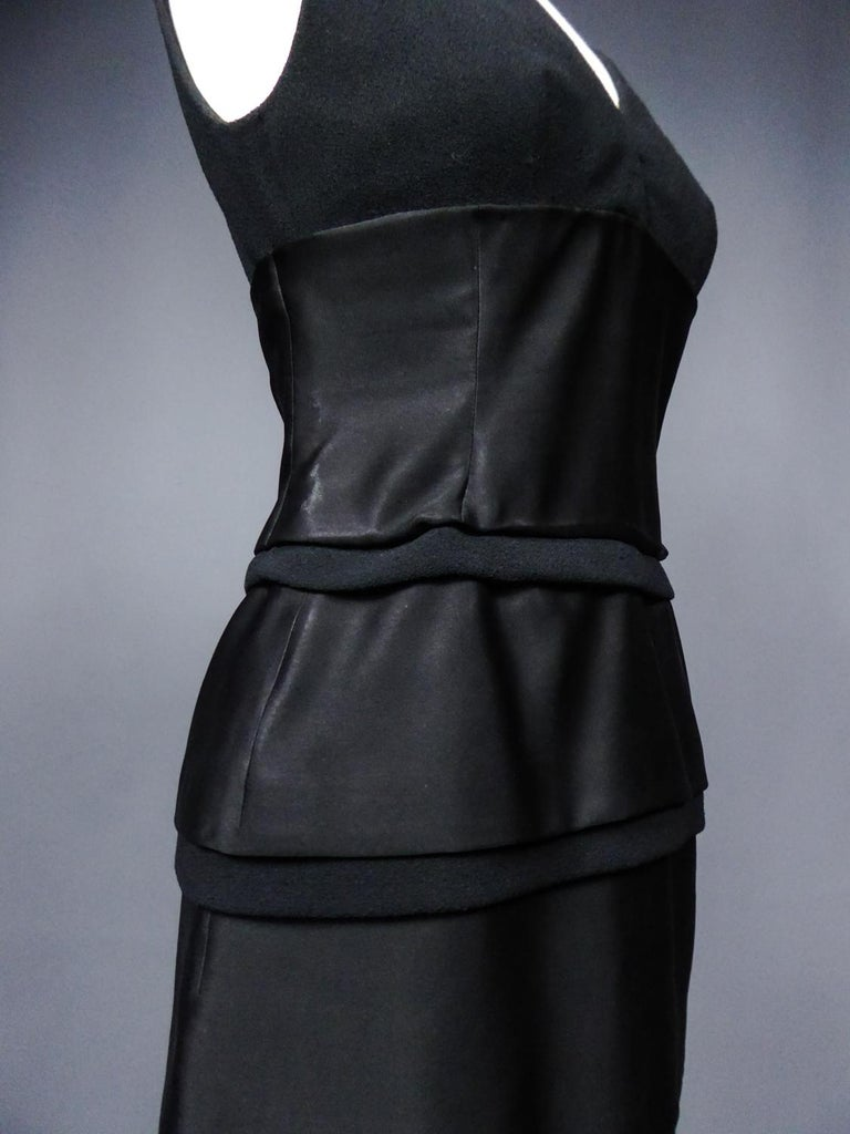 A Christian Dior Haute Couture Little Black Dress by Marc Bohan Fall 1961  For Sale 6