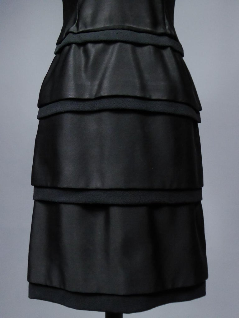 A Christian Dior Haute Couture Little Black Dress by Marc Bohan Fall 1961  For Sale 3