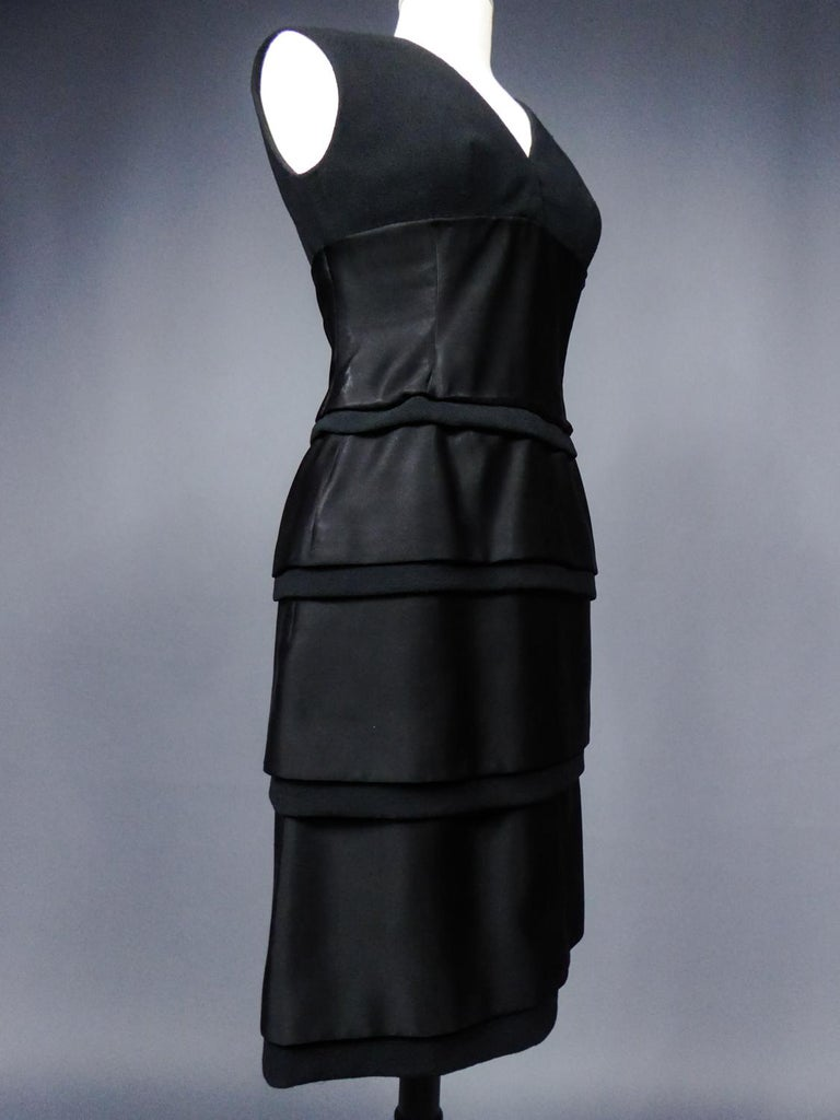 A Christian Dior Haute Couture Little Black Dress by Marc Bohan Fall 1961  For Sale 5