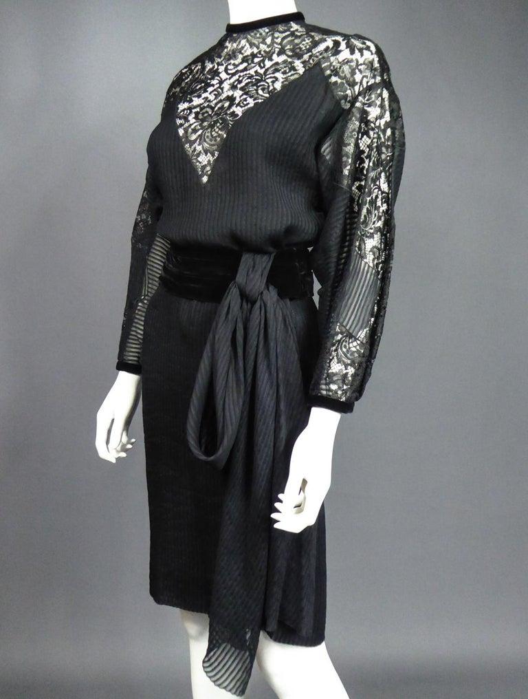 A Christian Dior-Marc Bohan Little Black Dress numbered 15843 Spring Summer 1982 For Sale 6
