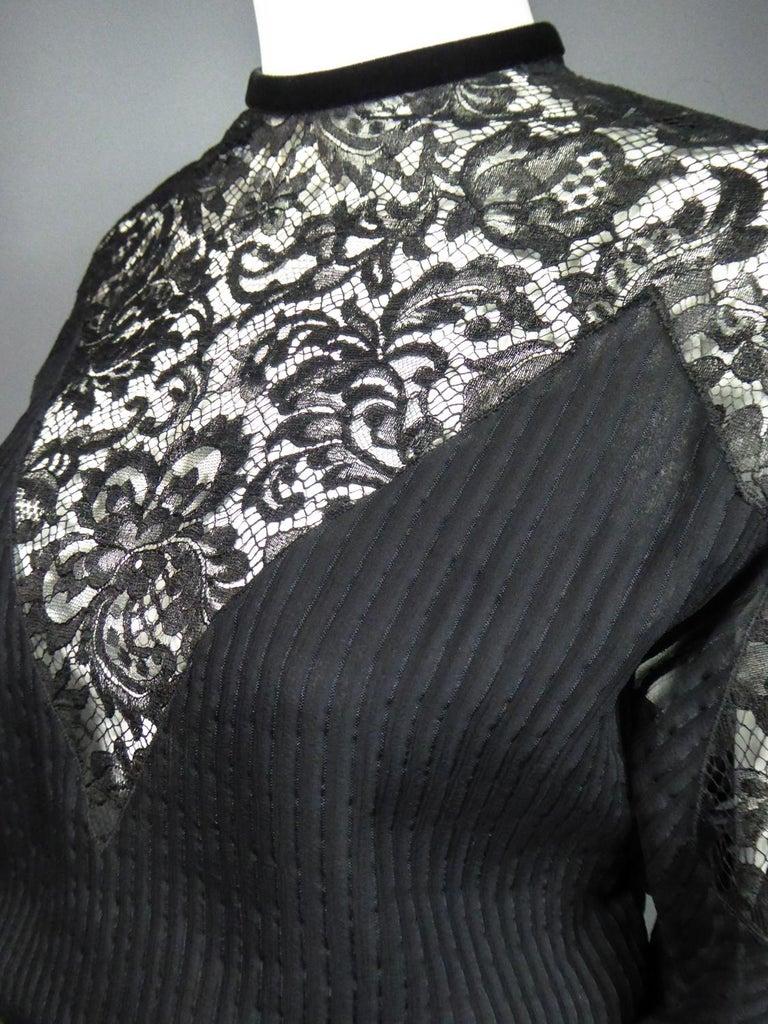 A Christian Dior-Marc Bohan Little Black Dress numbered 15843 Spring Summer 1982 For Sale 7