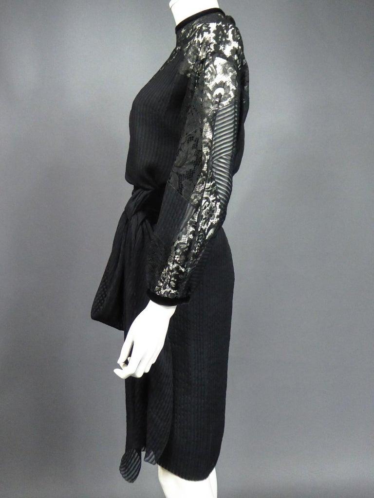 A Christian Dior-Marc Bohan Little Black Dress numbered 15843 Spring Summer 1982 For Sale 9