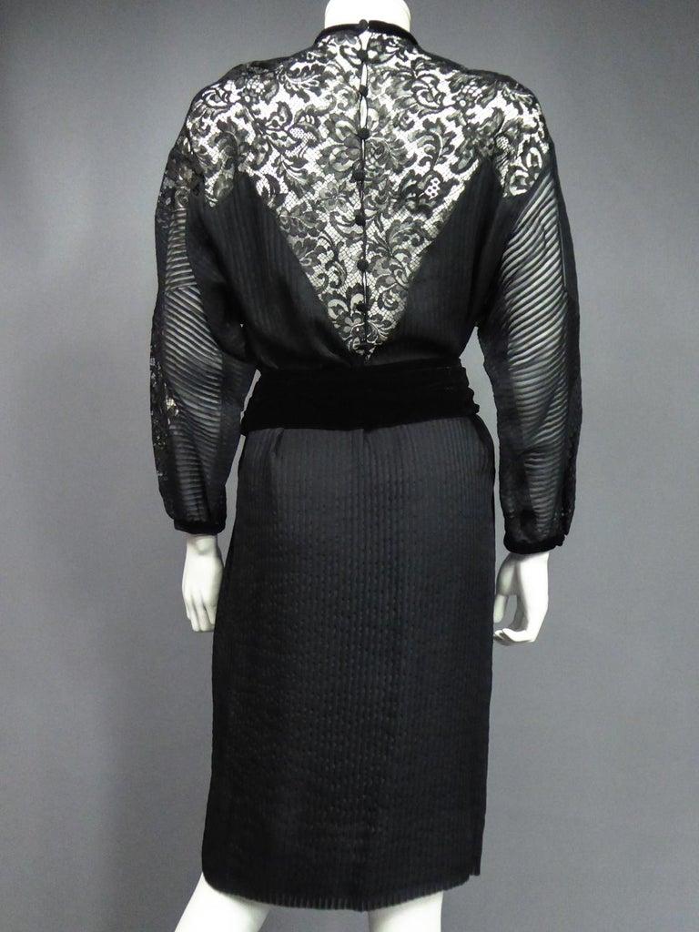 A Christian Dior-Marc Bohan Little Black Dress numbered 15843 Spring Summer 1982 For Sale 10