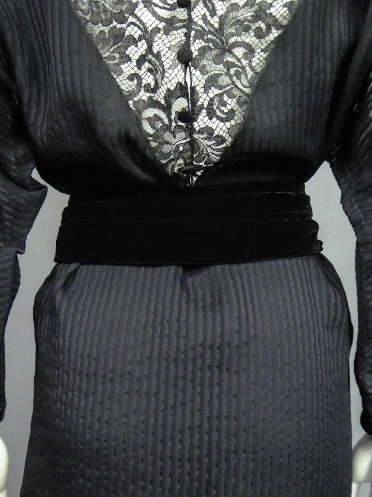A Christian Dior-Marc Bohan Little Black Dress numbered 15843 Spring Summer 1982 For Sale 11