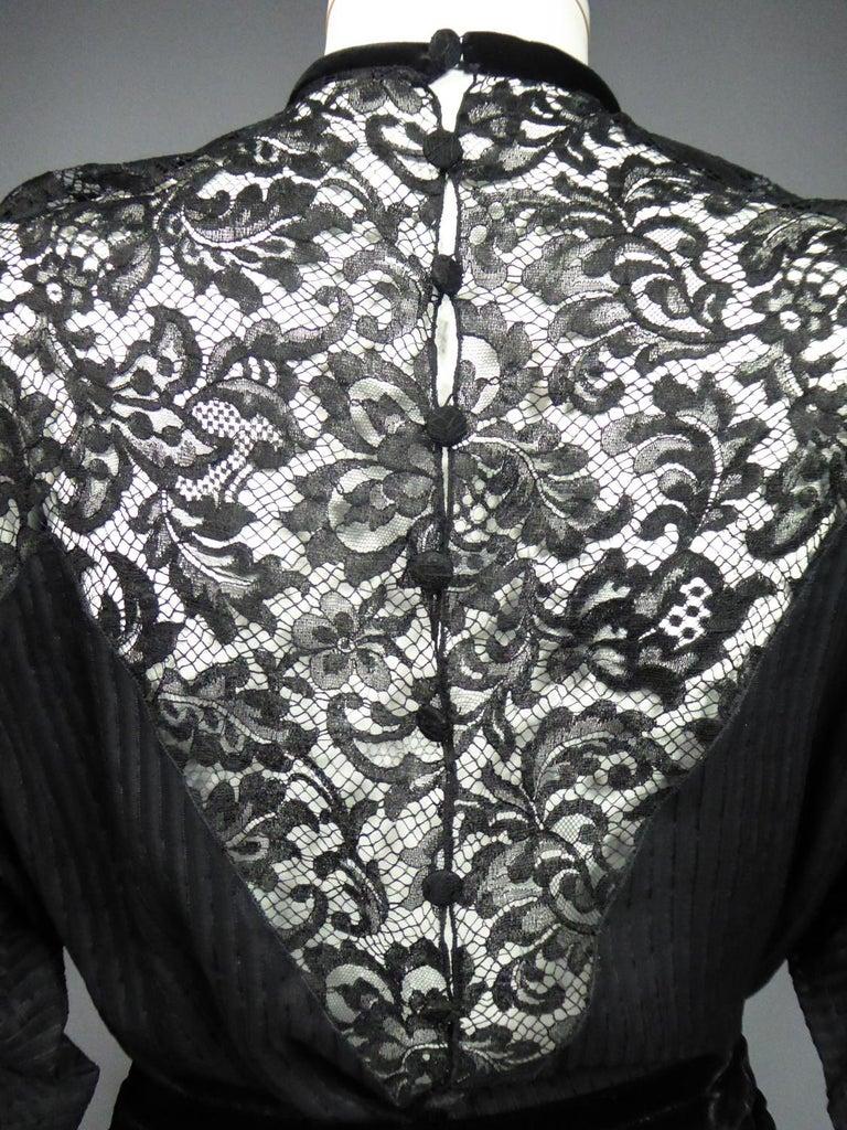 A Christian Dior-Marc Bohan Little Black Dress numbered 15843 Spring Summer 1982 For Sale 12