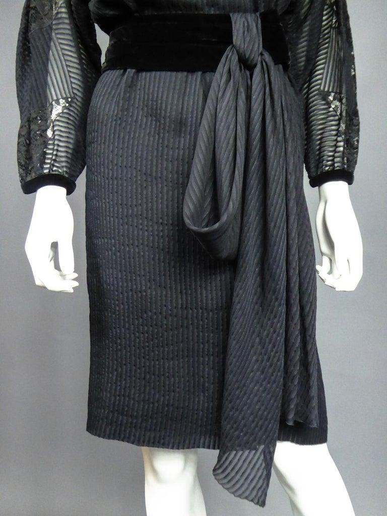 A Christian Dior-Marc Bohan Little Black Dress numbered 15843 Spring Summer 1982 For Sale 13