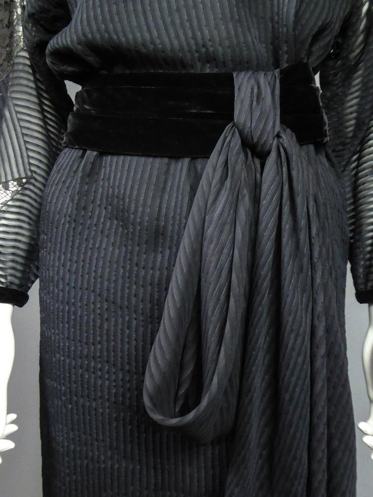 A Christian Dior-Marc Bohan Little Black Dress numbered 15843 Spring Summer 1982 For Sale 14
