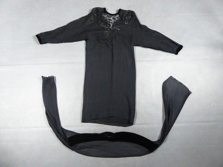 Women's A Christian Dior-Marc Bohan Little Black Dress numbered 15843 Spring Summer 1982 For Sale