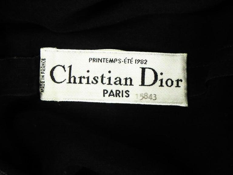 A Christian Dior-Marc Bohan Little Black Dress numbered 15843 Spring Summer 1982 For Sale 2