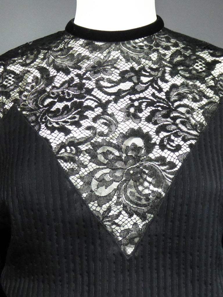 A Christian Dior-Marc Bohan Little Black Dress numbered 15843 Spring Summer 1982 For Sale 4